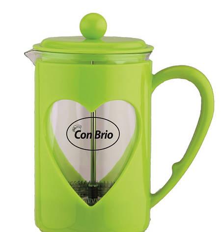 Заварник Con Brio,стекло,пластик,600мл СВ5660зел, фото 2