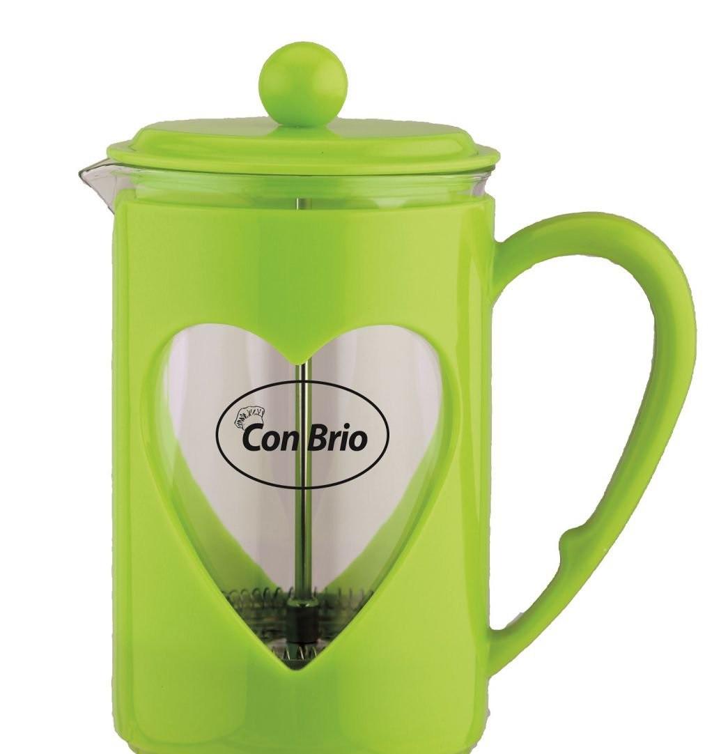 Заварник Con Brio,стекло,пластик,600мл СВ5660зел
