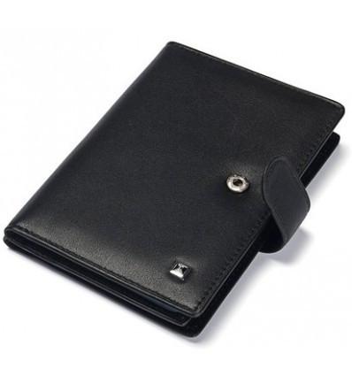 Бумажник-обложка  из натуральной  кожи