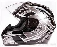 Мотоциклетный шлем каск NAXA F13C черно-серый
