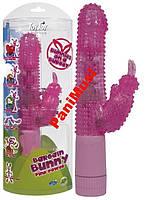 Вибратор с языком Funky Bunny Vibrator Pink Toyjoy