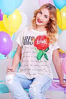 """Стильная женская футболка """"Сool girl 19"""" (Белый)"""
