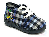 Детские летние кеды Renbut 13-108  для мальчиков Ортопедическая обувь Renbut размер 19-27. Синяя клетка