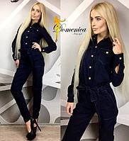 Женский красивый джинсовый комбез (+ большие размеры)
