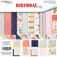 Набор двусторонней бумаги Birthday Party 20х20 см 10 листов