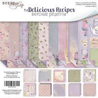 Набор двусторонней бумаги Delicious Recipes 20х20 см 10 листов