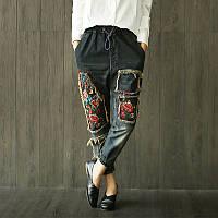 Крутые джинсы с вышивкой, фото 1