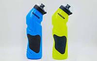 Бутылка для воды спортивная 750мл LEGEND (PE, силикон, цвета в ассортименте)