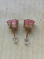 Серёжки розовые арт. 0008