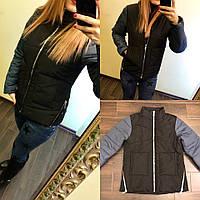 Женская куртка демисезонная. Ткань: Аляска , влагостойкая. ( не промокает) 150 синтепон , плотная подкладка !  Фурнитура: змейки . Размер: 42-44,