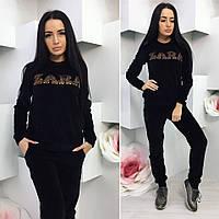 Спортивный велюровый костюм,черного цвета.костюм женский Ткань : велюр, производство Турция ! Камни -Турция.Ра