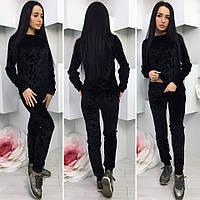 Спортивный  костюм женский.Цвет : чёрный , темно серый .