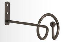 Розетта-держатель для штор и занавес Спираль оникс