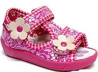 Детские сандали для девочки розово-белые размер 19-27 Renbut  Ортопедическая вкладка.