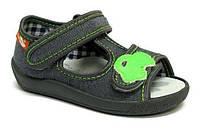 Детские сандали для мальчика серый цвет размер 19-27 Renbut  13-140 Ортопедическая вкладка.
