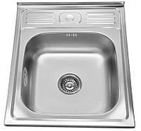 Мойка кухонная стальная Platinum 50 х 60 декор