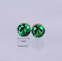 Серёжки зелёные арт. 0008