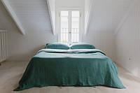 Постельное белье из льна, Бирюза, двуспальный