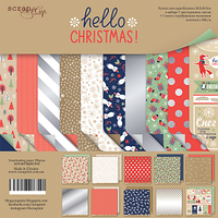 Набор двусторонней бумаги Hello Christmas 30х30 см 10 листов