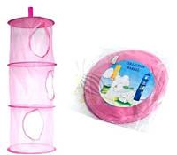 Подвесной органайзер для игрушек  цвет розовый Бесплатная доставка Укрпочтой