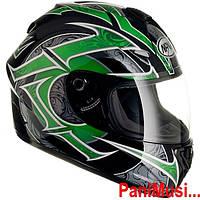 Купить Мотоциклетный шлем каск NAXA F13L зеленый