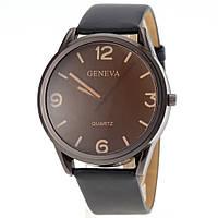 Часы кварцевые унисекс Geneva (черные)