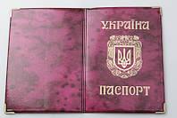 Обложка на паспорт У глянец новый год