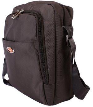 Мужская сумка серая с фирменным значком NOBOL 30814