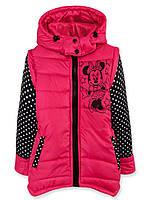 Детская демисезонная куртка-жилетка для девочки Микки.