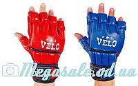 Перчатки для смешанных единоборств MMA Velo 4021: кожа, 2 цвета, S-XL, фото 1