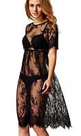 Пляжное платье черное ажурное