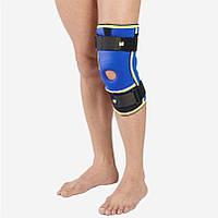 Бандажи коленного сустава с ребрами жесткости неопеновый Алком 4022