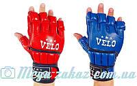 Перчатки для смешанных единоборств MMA Velo 4021: кожа, 2 цвета, S-XL