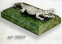 """Серебряная статуэтка  """"Крокодил"""""""