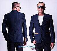 Мужской темно-синий пиджак Ян