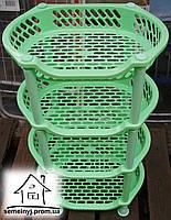 Этажерка пластиковая овальная (салатовая)