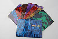 "Обложка на паспорт ""PASSPORT"" глянец микс"