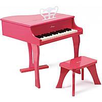 E0319 Розовое фортепиано со стульчиком