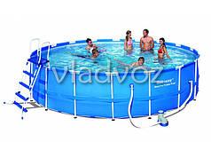 Каркасный семейный бассейн для дачи bestway 56462 549*122 см.