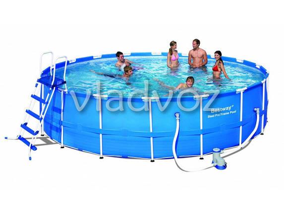 Каркасный семейный бассейн для дачи bestway 56462 549*122см, фото 2