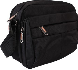 Мужская сумка черного цвета полиэстер 30815