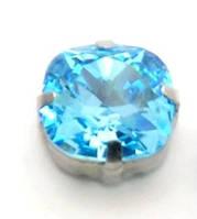 Камни Swarovski в серебряных цапах 4470 Aquamarine