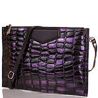 Женский кожаный клатч eterno et87209-7 черный с фиолетовыми блестками