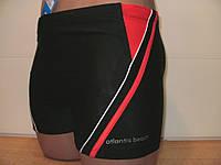 Плавки-шорты мужские Atlantis черный с красным