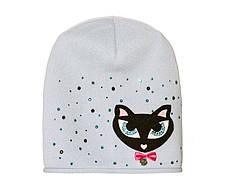 Дитячий модний демісезонний комплект шапка і снуд для дівчинки, фото 3