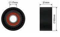 Ролик обводной ремня генератора Renault Trafic / Opel Vivaro / Nissan Primastar 2.5 dCi (G9U730) 03-> - Caffaro (Польша) - 15-00