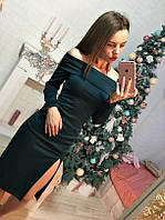 Платье с разрезом, цвета