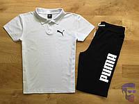 Спортивный костюм комплект шорты+футболка (поло) Puma Пума