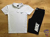 Спортивный костюм комплект шорты+футболка (поло) Nike Найк