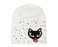 Детский модний демисезонный комплект шапка и снуд для девочки Белый, 49-56